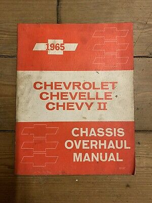 Original 1965 Chevrolet Chevelle Chevy II Chassis Overhaul Shop Service Manual
