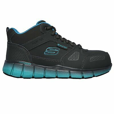 Skechers Womens 77272 Telfin Chedi ESD Alloy Toe Slip Resistant Work Shoes