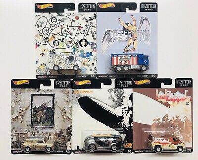 Hot Wheels 2020 Pop Culture Led Zeppelin Complete 5 Car Set In Stock Usa Seller