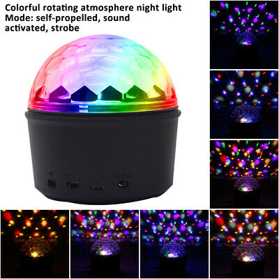 RGB Disco Party DJ LED Stage Effect Light Lamp Laser Crystal Magic Ball DMX512 A