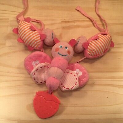 """PLAYGRO """"Candy Pink"""" Beautiful Little Tie-on Butterfly Baby's Tactile Toy Game"""