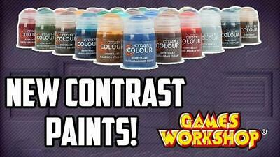 Complete Citadel Contrast Paint Set w/ Spray Paint - Warhammer 40k AOS
