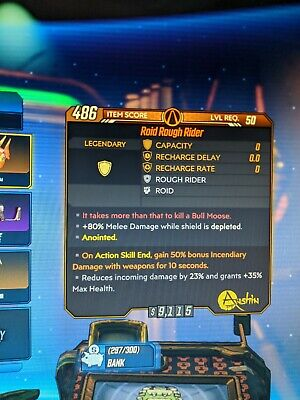 Borderlands 3 Roid Rough Rider ASE 50% Fire + Redundant Face-Puncher XBOX One