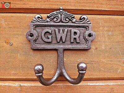 GWR DOUBLE COAT HOOK, Vintage Antique Style. Large Size. Victorian Railway