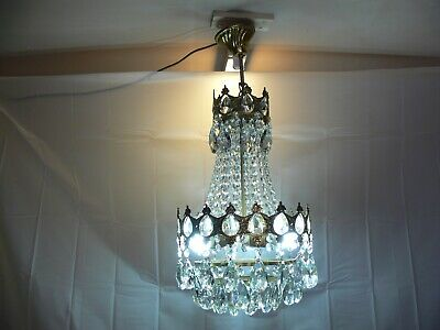 Vintage French Tent And Waterfall Chandelier