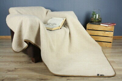 QUALITY /& WARM WOOLMARKED MERINO PURE WOOL BLANKET  NATURAL  Ullfilta ALL SIZES