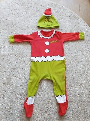 Grinch Baby 9-12 Months Outfit With Hat