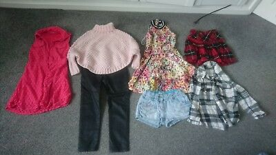 Mixed Girls Bundle Of Clothes, Dress, Skirts Trousers Aged 5-7 - 7 Items