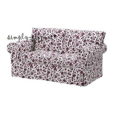 IKEA COVER for EKTORP Loveseat Floral 2-seat sofa Slipcover Hovby Lilac NEW