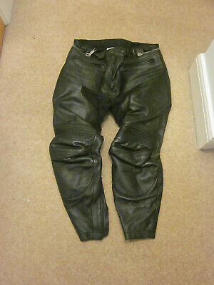 BKS Mens Leather Motorcycle Trousers W36 L30                                 (3)