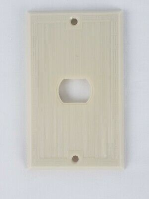 Art Deco MCM Vtg Ivory HORIZONTAL Ribbed Border Light Switch Wall  Plate Cover