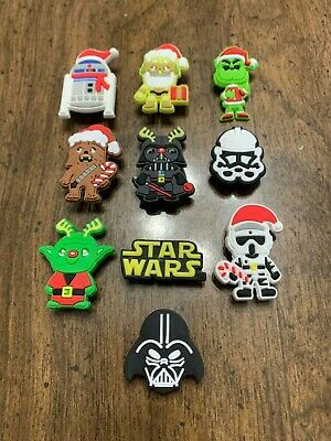 Star Wars Christmas, Grinch 10 pcs Shoe Charms Bracelet Charms