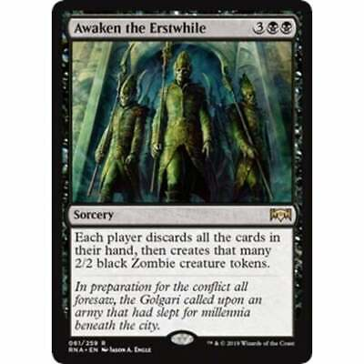Awaken the Erstwhile NM Ravnica Allegiance MTG Magic The Gathering Black English