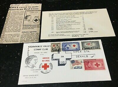 Kipex 1981: Honoring 100 Years Of The Red Cross 3-28-81 Multi-Stamp Club Cancel