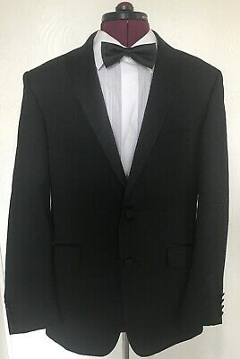 "MENS M&S AUTOGRAPH BLACK EVENING DINNER SUIT TUXEDO 40"" CHEST SHORT 36""W x 31""L"