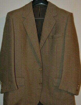 Oxxford Clothes Wool Brown Sportcoat Blazer 44S 44 S Neiman Marcus