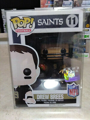 Funko Pop Football NFL Drew Brees #11 New Orleans Saints + Pop Protector