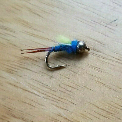 Bead Head Electric Prince Nymph Size 16 flies M6L 12 One dozen