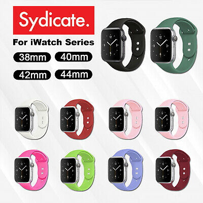 Silicone Band Strap For Apple Watch 1/2/3/4 iWatch Sports Series 38/42/40/44mm