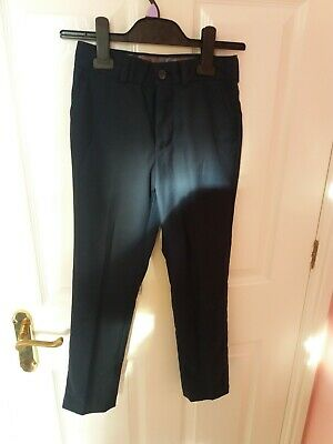 Next Boys' Formal Trousers Navy Blue Age 9