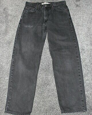 Mens Levi's Levi Strauss Black Denim 550 Jeans Relaxed Fit Red Tab 33W IL 31""
