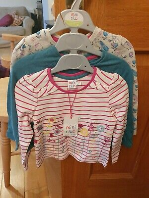 Bnwt Boots Mini Club Girls 12 Months To 1.5 Years Tops X 3