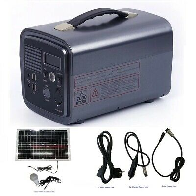 300W Portable Power Station Solar Generator and 30w solar panel USB AC Inverter