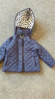 Boys Girls Toddler TU Coat Dark Blue Size 2 - 3 years