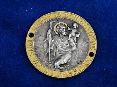 JOLIE Nice & TOP ! MEDAILLE AUTOMOBILE / Car medal - ART DECO - ST CHRISTOPHE