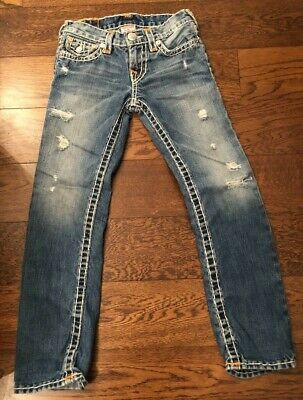 TRUE RELIGION Jack Super-T Rope-stitch jeans genuine and Perfect 7yrs.