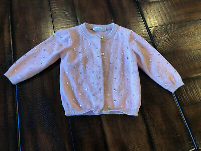 Noukie's Baby Girl Pink Heart Cardigan Size 12 Month