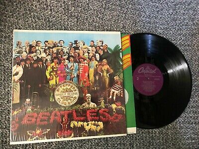 The Beatles Lp Sgt Peppers In Shrink V. G Capitol Old Press No barcode