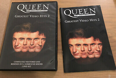 QUEEN The DVD Collection: Greatest Video Hits 2 II 2-disc with booklet -Free P&P