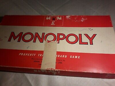 Vintage Monopoly Board Game Classic Red Box 1972 Waddingtons