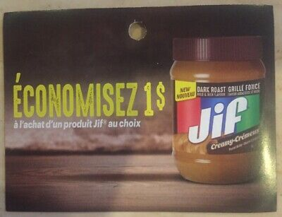 Lot of 20 x 1.00$ Jif Products Coupons Canada