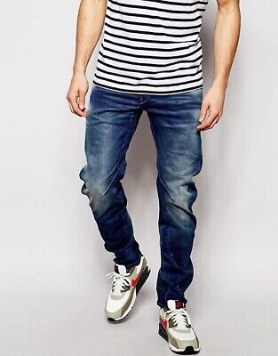 G-Star Raw Arc 3D Loose Tapered Fit Distressed Denim Jeans Men's Size 40 NEW