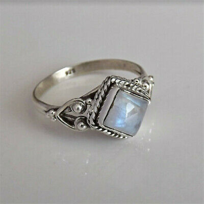 Lukky Jewerly Women Charm 925 Silver Ring 1.6Ct Sapphire Ocean Wave Sea Surf Party Size6-10 10