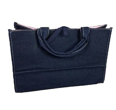 Sex and the City Tote Bag Chambray Denim Dark Blue Pink Official HBO NEW