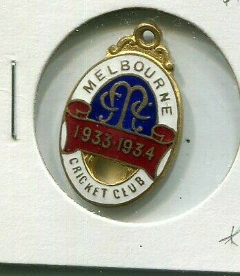 Melbourne Cricket Club members badge Country 1933 - 1934