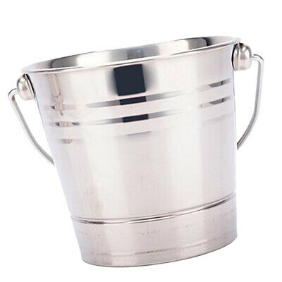 Define Stainless Steel Ice Ribbed 50/'s Style Ice Bucket