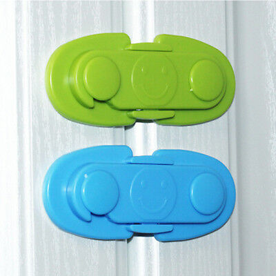 Child Adhesive Kid Baby Safety Drawer Door Lock Cupboard Cabinet Belt Strap WO