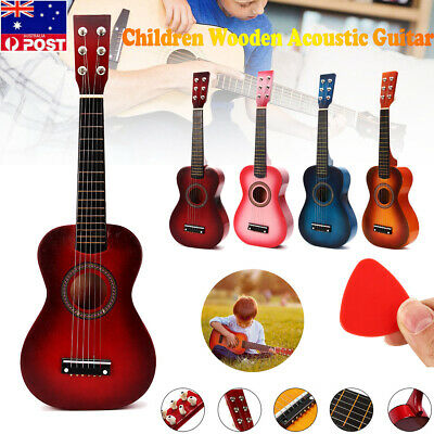 AU 23'' Kids Acoustic Guitar 6 String Practice Music Instruments Gift 2020 NEW