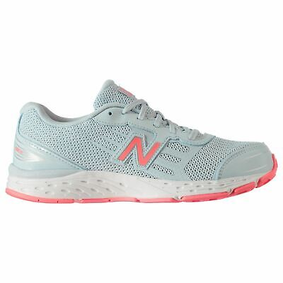 New Balance 680v5 Running Shoes Junior Girls Blue/Pink Jogging Trainers Sneakers