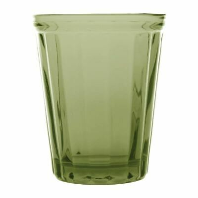 Olympia Cabot Panelled Glass Tumbler Green 260ml / 9oz Pack Quantity - 6