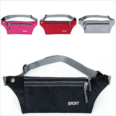 Running Hiking Sport Bum Bag Travel Phone Money Fanny Pack Waist Belt Zip Pouch