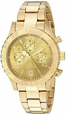 Invicta Women's 1279 II Collection Chronograph Gold Dial 18k Gold Toned