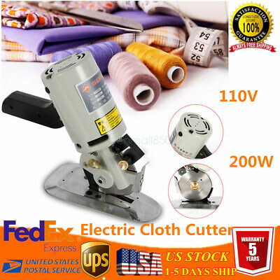 "Electric Cloth Textile Cutter+set tool 3.5"" Electric Cloth Cutter 90mm Fabric US"
