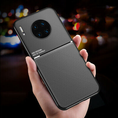 For Huawei P30 P20 Lite Pro P30 P Smart NOVA 5T PU Leather Slim Metal Case Cover