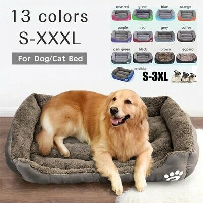 Extra Large Pet Dog Cat Bed Puppy Cushion Soft Warm Kennel Mat Blanket Washable
