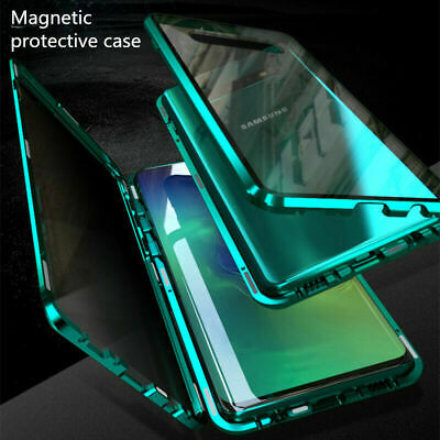 Magnetic Case For Samsung S10 Plus S9 Note 10+ Metal Double Sided Tempered Glass